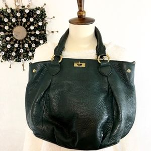 J. Crew Brompton Forest Green Pebble Leather